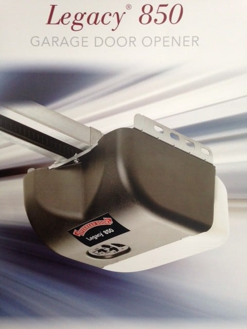 Legacy 850 1 2hp Light Duty Garage Door Opener Overhead