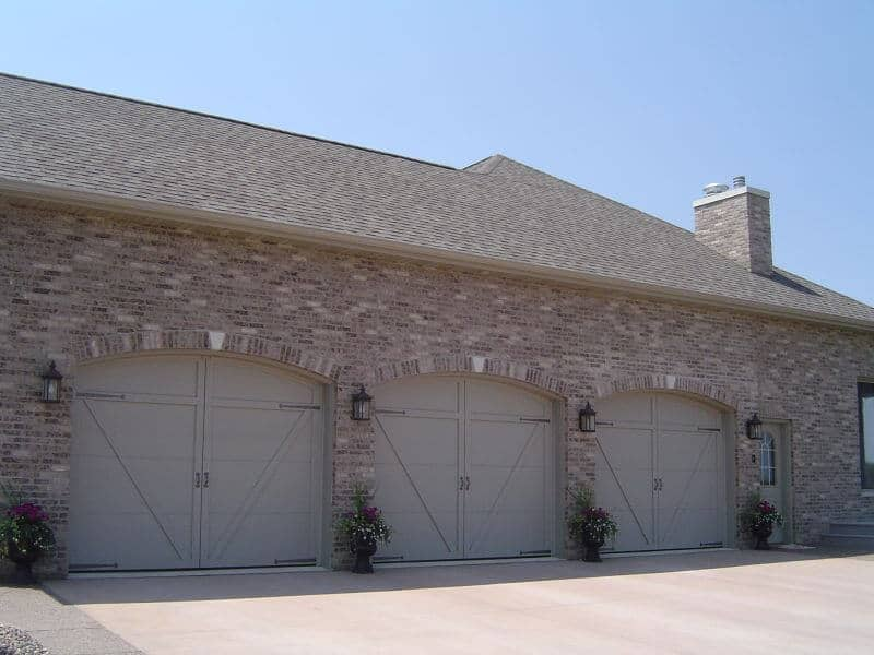 166t 01ra 10 x 8 courtyard with custom solid arch for 18 x 10 garage door