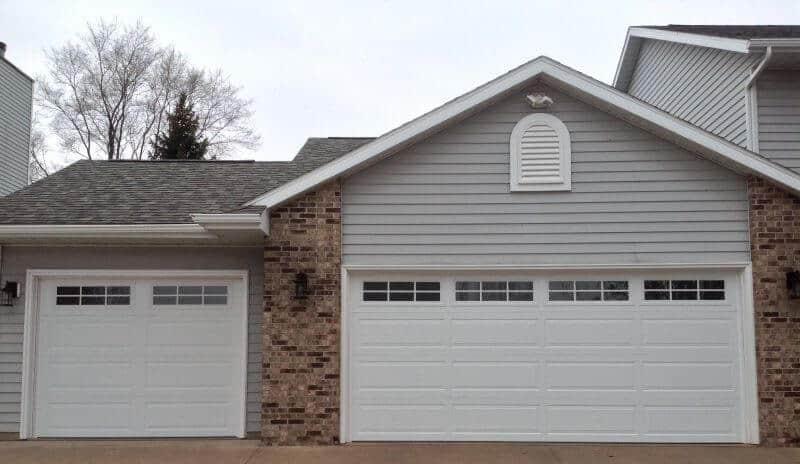 198 01RA2 16 X 7 U0026 9 X 7 Thermacore Doors White Long Panel With Stockton 2  6 Lite Windows