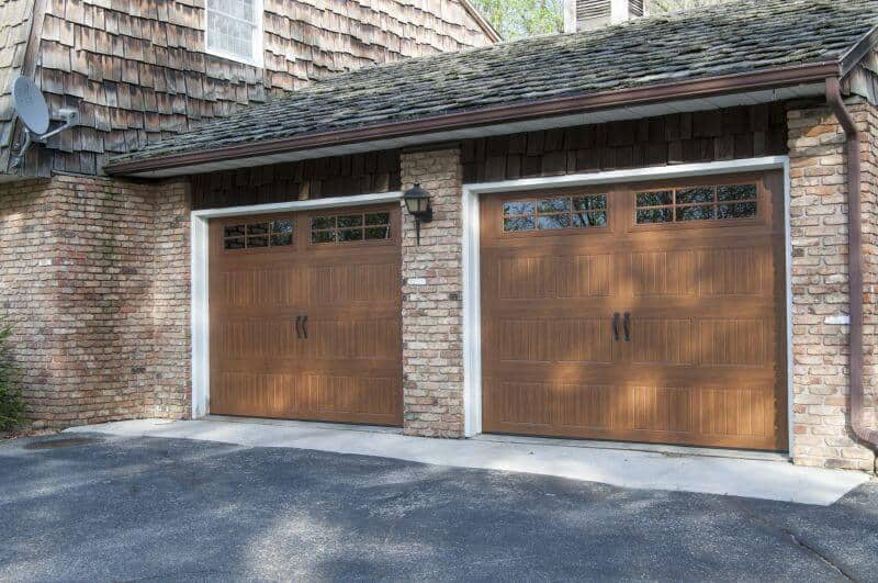 199V5 03RA 9 X 7 Thermacore Doors Golden Oak Finish With Stockton 2 6 Lite  Windows (Decorative Bean Handles)