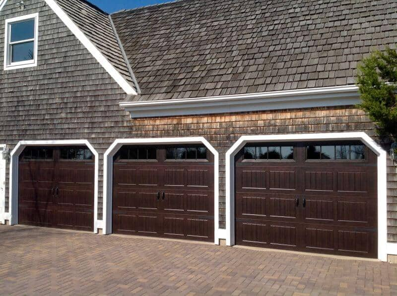 Attractive 199V5 18RA2 9 X 7 Thermacore Doors Walnut Finish With Stockbridge 2 4 Lite  Windows And (Decorative Spear Hardware)